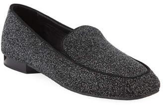 Donald J Pliner Heddy Glittered Flat Loafers