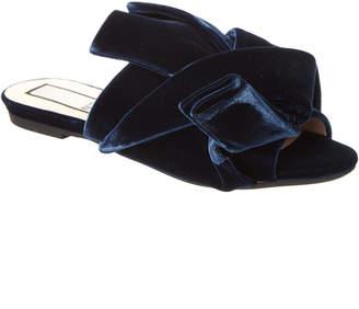 N°21 N21 Velvet Bow Flat Mule