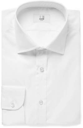 Dunhill White Cotton-Poplin Shirt - Men - White