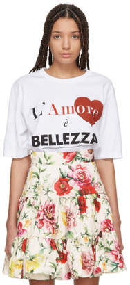 Dolce & Gabbana White Lamore E Belezza T-Shirt