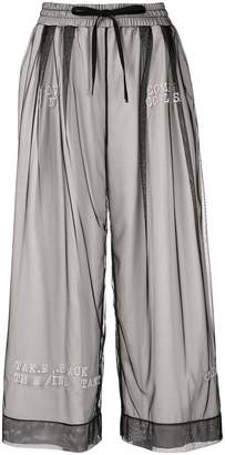 Puma Maison Yasuhiro layered wide-leg trousers