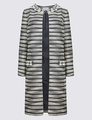 Classic Cotton Blend Jacquard Coat