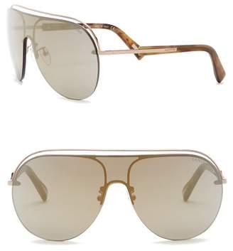 Lanvin 99mm Metal and Acetate Shield Sunglasses