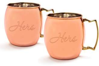 "Cathy's Concepts For the Couple"" Moscow Mule Copper Mug Set"