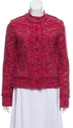 White + Warren Wool-Blend Knit Jacket