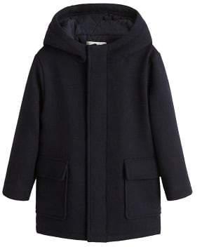 MANGO Hood wool-blend duffle coat