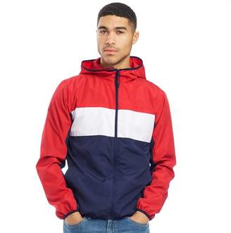 Fred & Boston Mens Zip Through Jacket Navy/White/Red