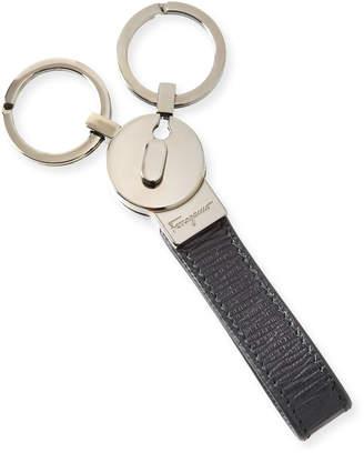 Salvatore Ferragamo Leather Loop Double Key Chain