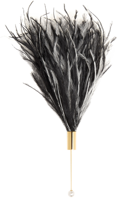 HILLIER BARTLEY Feather and gold-plated brooch