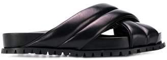 Jil Sander cross strap sandals