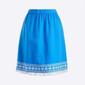 J.Crew Factory Pull-on tassle mini skirt