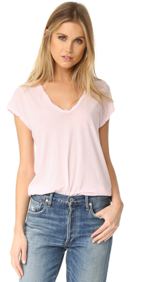 James Perse High Gauge Jersey Deep V Tee $85 thestylecure.com