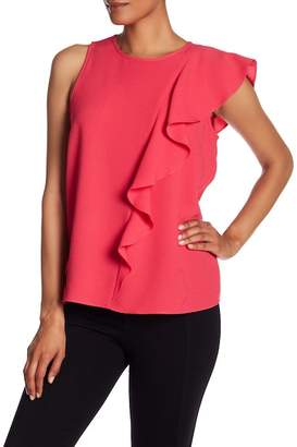 Rachel Roy Ruffle Draped Sleeveless Blouse