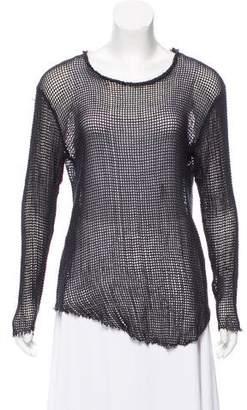 IRO Crochet Fishnet Top