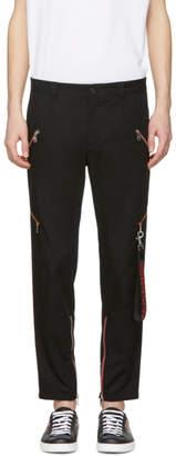 Dolce & Gabbana Black Cropped Side Stripe Trousers