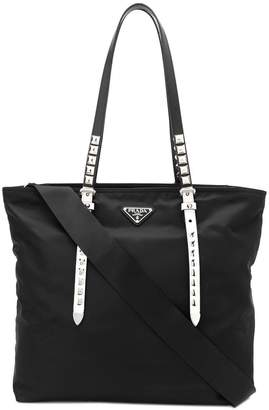 Prada studded tote bag