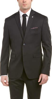 Original Penguin 2Pc Wool-Blend Suit With Flat Front Pant