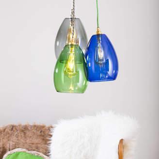 4cd37225b2a Glow Lighting Coloured Glass Cluster Bertie Mid Pendant Light