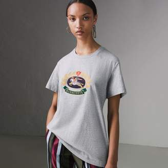 Burberry Embroidered Archive Logo Cotton T-shirt