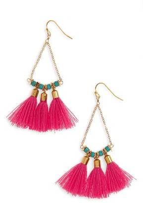 Women's Panacea Tassel Drop Earrings $22 thestylecure.com