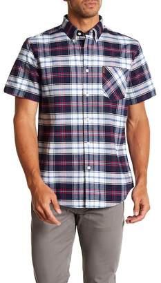 Ben Sherman Oxford Plaid Short Sleeve Regular Fit Shirt