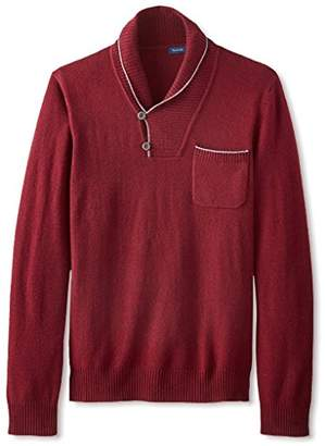 Thirty Five Kent Men's Wool/Cashmere Shawl Collar Sweater With Pocket
