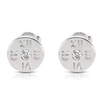 Tiffany & Co. Atlas white gold earrings