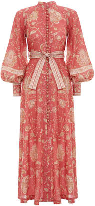 Zimmermann Veneto Border Long Dress