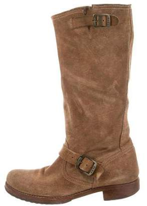 Frye Suede Round-Toe Boots