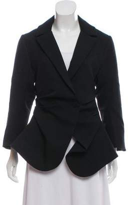Jacquemus Notched-Lapel Ruched Blazer w/ Tags