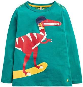 Joules Toddler Boys Zipadee Zip Pocket Dino T-shirt
