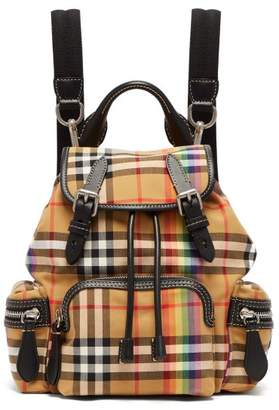 Burberry Rainbow Vintage Check Small Backpack - Womens - Brown Multi