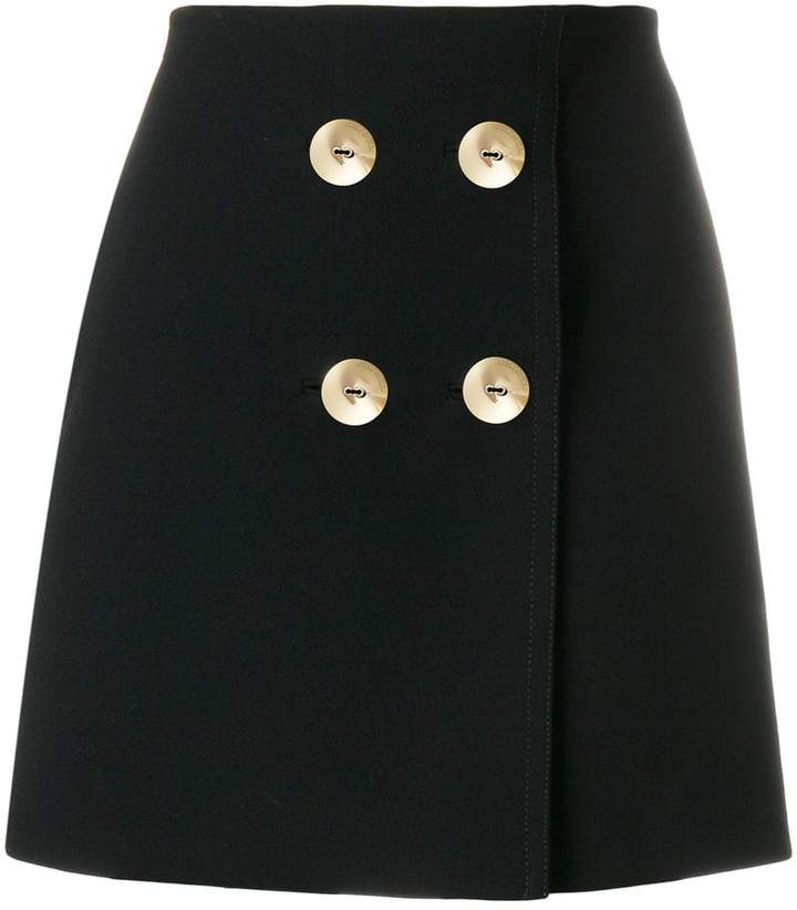 Emilio Pucci button-embellished mini skirt