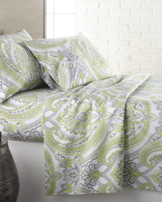 South Shore Linens Pure Melody Classic Paisley Printed Easy Care Sheet Set