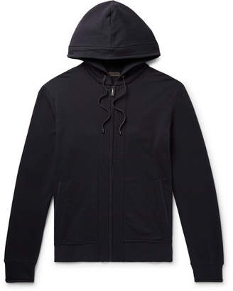 Zimmerli Fleece-Back Stretch-Cotton Jersey Zip-Up Hoodie