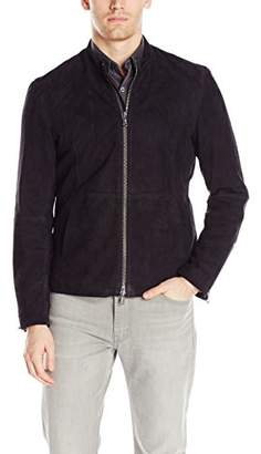 John Varvatos Men's Suede Racer Jacket
