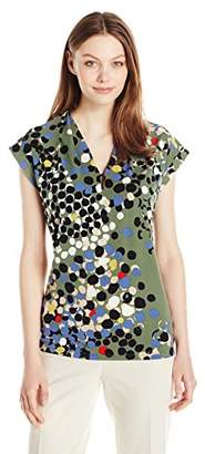 Anne Klein Women's Printed V-Neck Ity