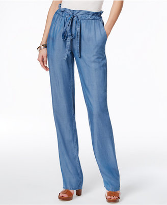 MICHAEL Michael Kors Chambray Straight-Leg Pants $88 thestylecure.com