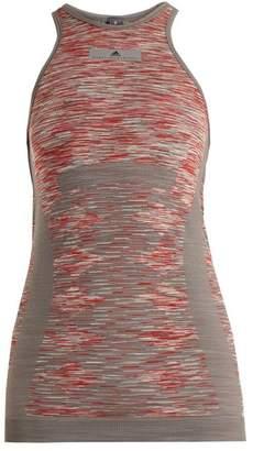 Adidas By Stella Mccartney - Yoga Seamless Space Dye Tank Top - Womens - Grey Multi