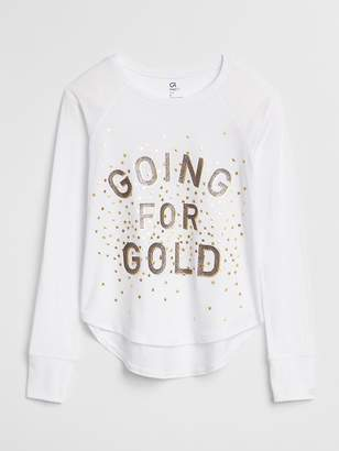 Gap GapFit Kids Graphic Long Sleeve T-Shirt