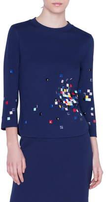 Akris Punto Pixel Stud Embellished Top