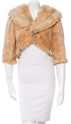 Fendi Sheared Mink Cropped Jacket