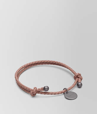 Bottega Veneta BRACELET IN DECO ROSE INTRECCIATO NAPPA