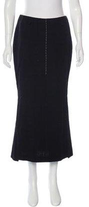 Yohji Yamamoto Knit Midi Skirt $75 thestylecure.com