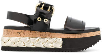 AGL platform buckle sandals