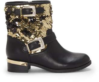 Vince Camuto Kids Winika Sequin Moto Boot