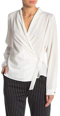 THYME & CLOTH Long Sleeve Wrap Blouse