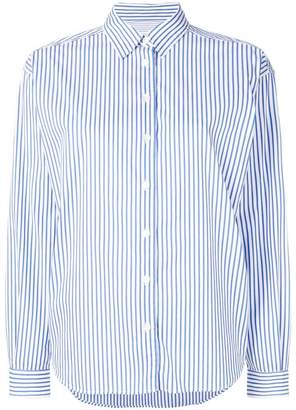Closed striped fitted shirt