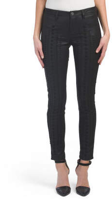 Lace Up Faux Leather Skinny Pants