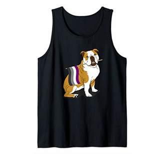 Icons Dog Owner English Bulldog Asexual Lgbt Awareness Flag Tank Top
